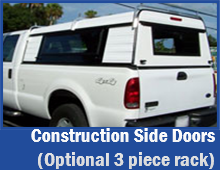 Construction Side Doors optional 3 piece rack